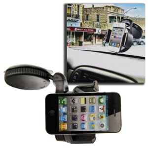Universal Windshield Car Holder for iPhone 5 4S / 4 / iPod Touch, Width: 50mm~75mm