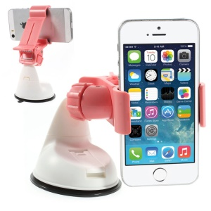 Rose Universal 360 Rotation Clip Car Suction Cup Mount Holder for iPhone Samsung Sony LG / GPS / PDA Etc