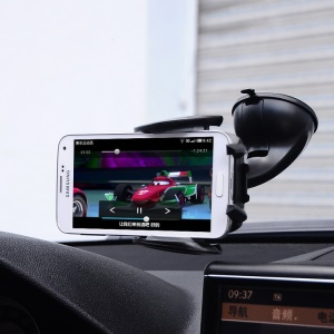 Baseus Movement Series 360 Degree Rotation Suction Cup Car Mount Holder, Width: 50 ~ 100mm - Black