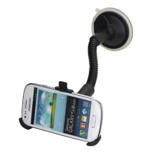 Car Windshield Gooseneck Suction Cup Mount Holder for Samsung i8190 Galaxy S 3 Mini