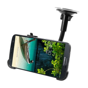 Gooseneck Windscreen Suction Mount Car Holder for Nokia Lumia 1520 / Samsung Galaxy Mega 6.3 I9200 I9208