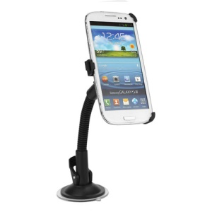Goose Neck Car Windshield Mount Stand for Samsung Galaxy S3 I9300 I747 L710 T999 I535 R530