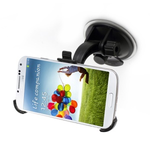 360 Rotary Ball Head Car Windshield Mount Stand for Samsung Galaxy S IV 4 i9500 i9505