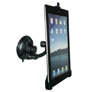 Revolving Suction Cup Car Windshield Mount Panel Holder for iPad 2 2nd - Black