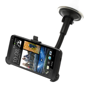 Gooseneck Car Windshield Suction Mount for HTC One M7 801e