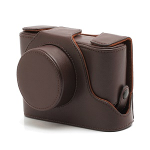 Leather Camera Case Bag for Fujifilm Fuji FinePix X100 - Brown