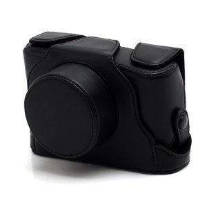 Premium Leather Case Bag Cover for Fuji Fujifilm X10 X20 Camera - Black