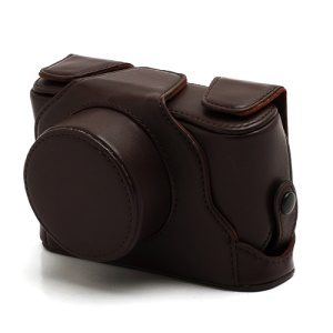 Premium Leather Case Bag Cover for Fuji Fujifilm X10 X20 Camera - Coffee
