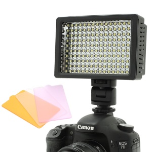 Super Power HD-160 LED Camera Video Lighting Camcorder Lamp with Three Filters