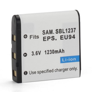 3.6V 1230mAh Samsung SLB-1237 EPSON EU94 Battery Replacement for Samsung Digimax L55 L55W L85