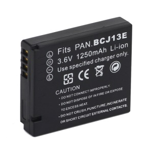 3.6V 1250mAh DMW-BCJ13E DMW-BCJ13 Li-ion Battery for Panasonic Lumix DMC-LX5 DMC-LX5K LX5W