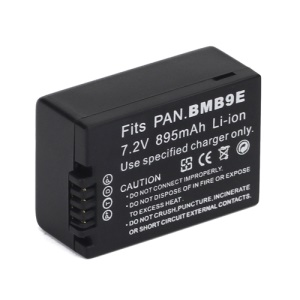 7.2V 895mAh DMW-BMB9E Camera Battery for Panasonic Lumix DMC-FZ40 DMC-FZ45 DMC-FZ100