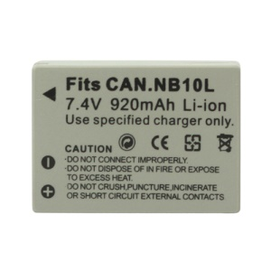 NB-10L NB10L Li-ion Battery for Canon PowerShot SX40 HS 7.4V 920mAh