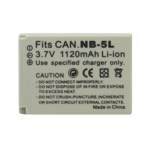 Battery Pack NB-5L for Canon PowerShot SD SX IXUS IXY SX210 SX220 SX230 HS 3.7V 1120mAh