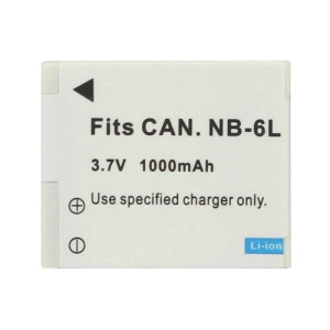 Replace Canon NB-6L Li-Ion Battery Pack 3.7V 1000mAh