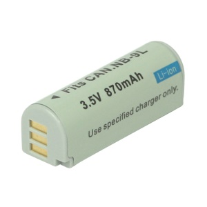 NB-9L NB9L Li-ion Battery for Canon IXUS 1000HS SD4500IS IXY50S 3.5V 870mAh