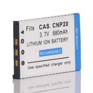 Lithium-Ion Battery for NP-20 NP20 Casio Exilim 3.7V EX-S600 680mAh
