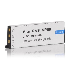 3.7V 950mAh NP-50 NP50 Rechargeable Battery for Casio Camera Exilim EX-V7 V8