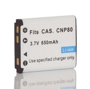 3.7V 650mAh NP-80 NP80 Li-ion Battery for Casio Exilim Zoom EX-Z2 Z270 Z330 G1
