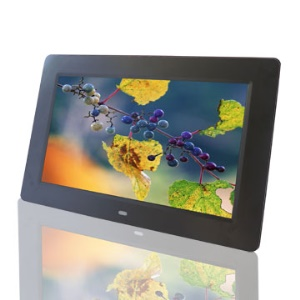 Black 10 inch TFT LCD Digital Photo Frame