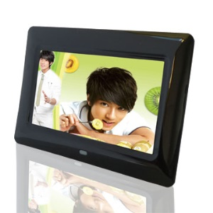 Black 7.0 inch LCD Digital Photo Frame w/ Remote Control