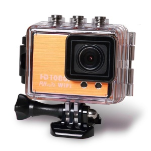 S20 Full HD 1080P WiFi 1.5-inch TFT Waterproof Sports Camcorder DVR DV HDMI Remote Control - Orange