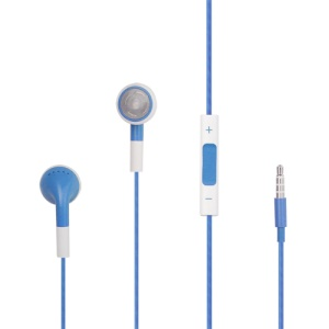 iPhone 4S Stereo Headset Headphones with Volume Control and Mic - Blue