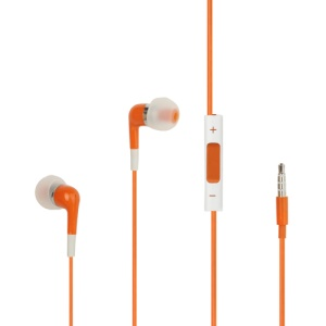 Stereo In-Ear Headphones with Mic and Volume Control for iPhone 4S - Orange