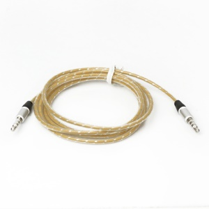 3.5mm Male to Male Stereo Audio Cable, Length: 115cm - Yellow
