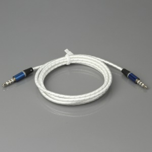 3.5mm Male to Male Audio Cable Cord for iPhone iPod MP3 PC, Length: 115cm - White