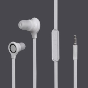 3.5MM Stereo Plug In-Ear Earphone Headphone Headset with Mic ControlTalk for HTC Samsung Series - White