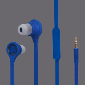 3.5MM Stereo Plug In-Ear Earphone Headphone Headset with Mic ControlTalk for HTC For Samsung Series - Blue