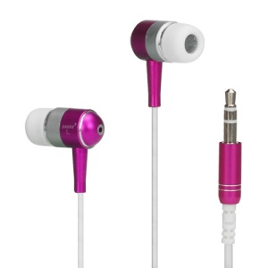 Metallic In-ear Headphones for iPod iPad MP3 CD etc - Silver / White / Rose