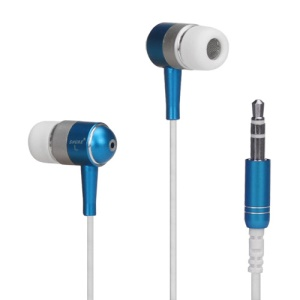 Metallic In-ear Headphones for iPod iPad MP3 CD etc - Silver / White / Blue