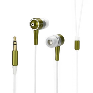Metallic In-ear Headphones for iPod iPad MP3 CD etc - White / Silver / Green
