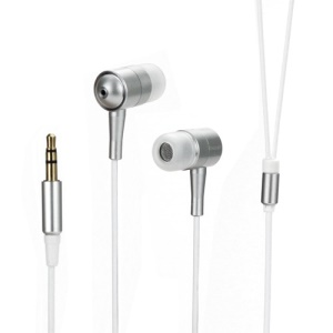 Metallic In-ear Headphones for iPod iPad MP3 CD etc - White / Silver