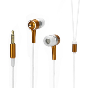 Metallic In-ear Headphones for iPod iPad MP3 CD etc - Silver / White / Orange