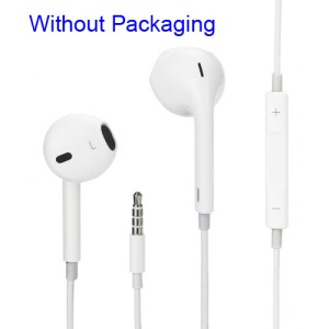 For Apple For iPhone 5 Earpods Headphones with Remote & Mic (without blister packing)