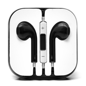 3.5mm Stereo Earphone Headset with Remote & Mic for iPhone 5 - Black