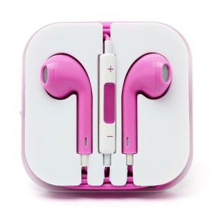 3.5mm Stereo Earphone Headset with Remote & Mic for iPhone 5 - Rose