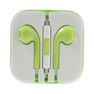 Silver Net 3.5mm Earphone Headset with Mic for iPhone iPad iPod - Green