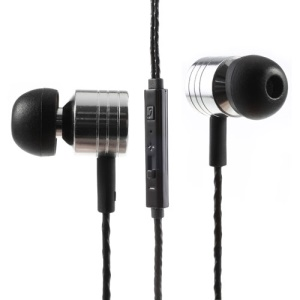 Silver Mosidun M3 3.5mm In-Ear Earbud Earphone with Mic & Remote for iPhone iPad Samsung HTC MP3 MP4
