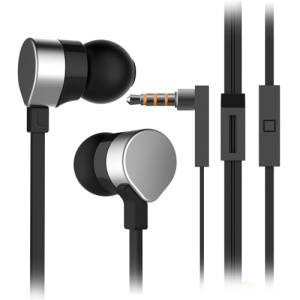 Wallytech WHF-125 Metal In-ear Stereo Earphone w/ Remote & Mic - Black / Silver
