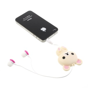 Rilakkuma Retractable Earphone Dustproof Plug for iPhone iPad Samsung HTC Sony LG etc - Rose