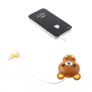 Rilakkuma Retractable Earphone Dustproof Plug for Samsung HTC Sony LG iPhone iPad etc - Yellow