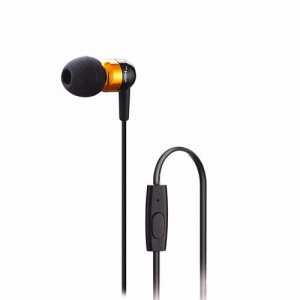 Gold JBMMJ-A8 3.5mm Noise Elimination In-ear Headphone w/ Mic for iPhone Samsung HTC LG MP3 MP4 etc