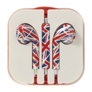 Union Jack Flag Pattern 3.5MM In-ear Headset with Remote & Mic for iPhone 5s 5