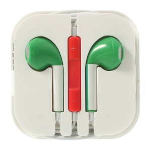Italia Flag Pattern 3.5MM In-ear Headset with Remote & Mic for iPhone 5s 5
