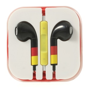 Alemania Flag Pattern 3.5MM In-ear Headset with Remote & Mic for iPhone 5s 5