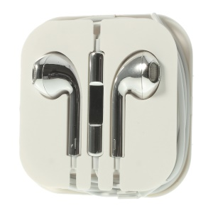 Electroplated In-Ear 3.5mm Headset Earphone with Mic for iPhone iPad iPod Samsuang - Silver